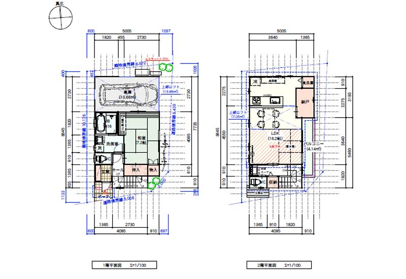 敷地19坪の間取り2LDK以下の狭小住宅:東京都内の間取り検索 ...